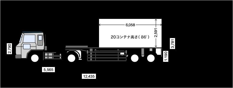トレーラー 寸法 セミ